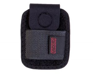 The Battery Holster<sup>™</sup> is a slim neoprene pouch and holds camera batteries or other small accessories