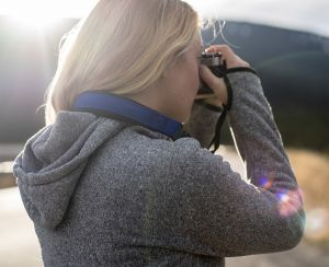 The tailored, non-stretch design is an alternative to the traditional camera strap