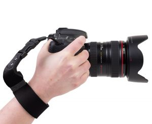 The SLR Wrist Strap™ offers peace of mind when shooting without a neck strap