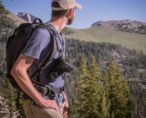 The Reporter/Backpack Connectors™ attach to most backpacks, allowing you to keep your hands free while hiking