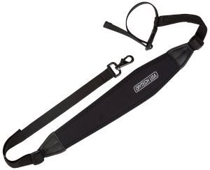 The Tripod Strap allows a tripod to be carried horizontally by your side or vertically against your back